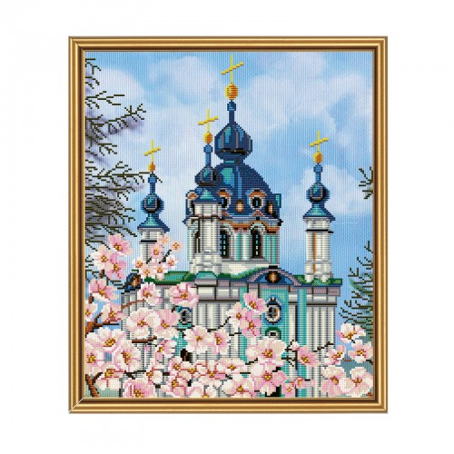 "Threads and beads embroidery kit ""St. Andrew's Church"""