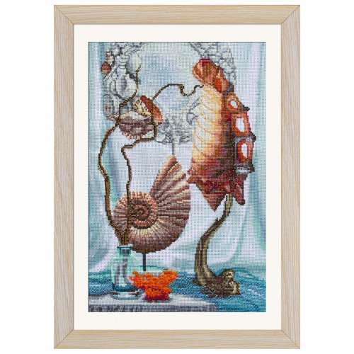 "Threads and beads embroidery kit ""Sea treasures"""