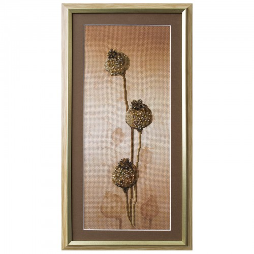 "Threads and beads embroidery kit ""Poppies"""