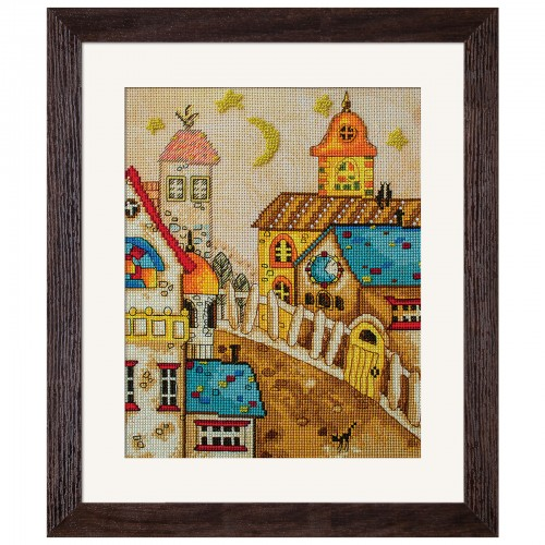 "Threads and beads embroidery kit ""Town from fairy tale"""