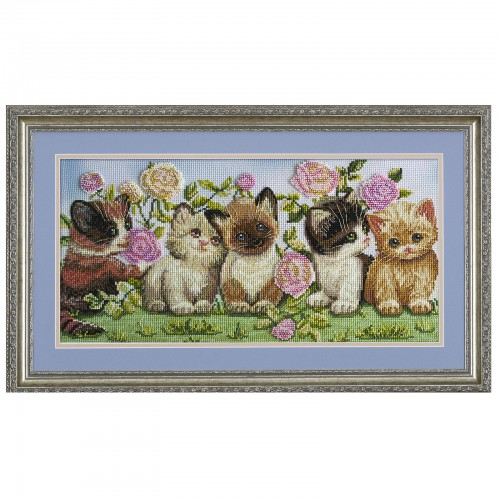 "Threads and beads embroidery kit ""Kittens"""