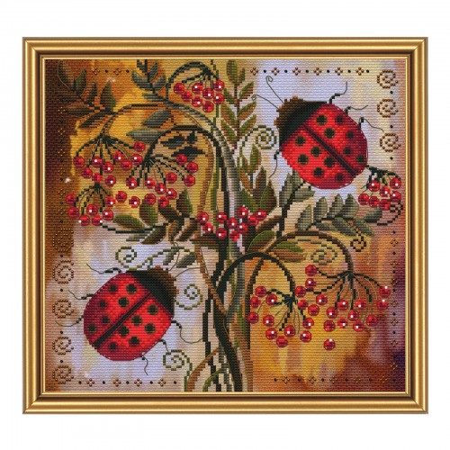"Threads and beads embroidery kit ""Labybugs"""