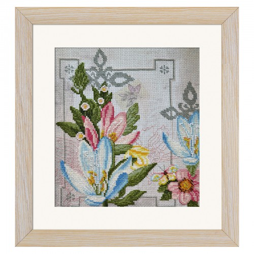 "Threads and beads embroidery kit ""Flowers of life"""
