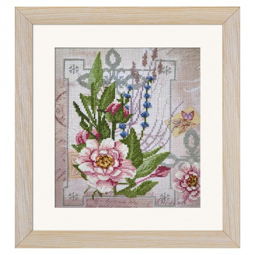 "Threads and beads embroidery kit ""Flower of tenderness"""