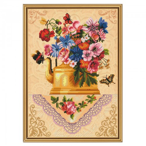 "Threads and beads embroidery kit ""Breath of summer"""