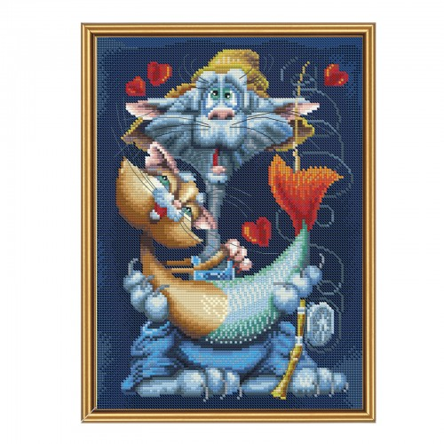 "Threads and beads embroidery kit ""My dear fish"""