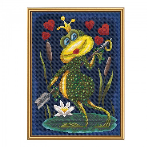 "Threads and beads embroidery kit ""Frog princess"""
