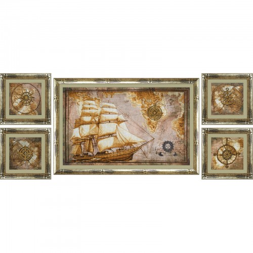 "Cross stitch kit with canvas with printed background ""Cruise"""