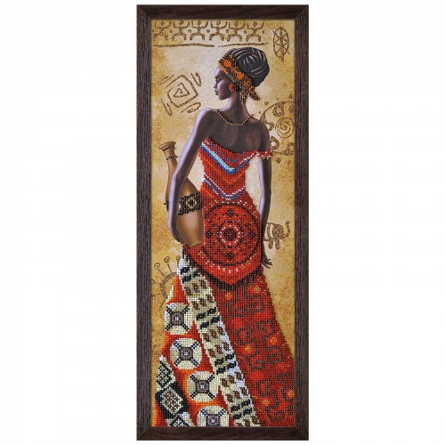 "Beads embroidery kit ""African woman with pitcher"""
