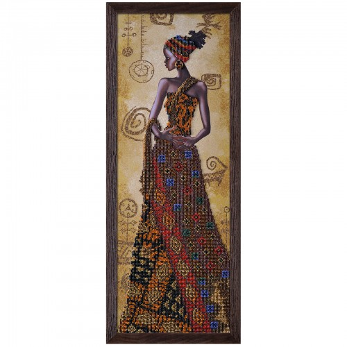 "Beads embroidery kit ""Mysterious african woman"""