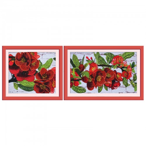 "Beads embroidery kit ""Bloomering pomergranate"""