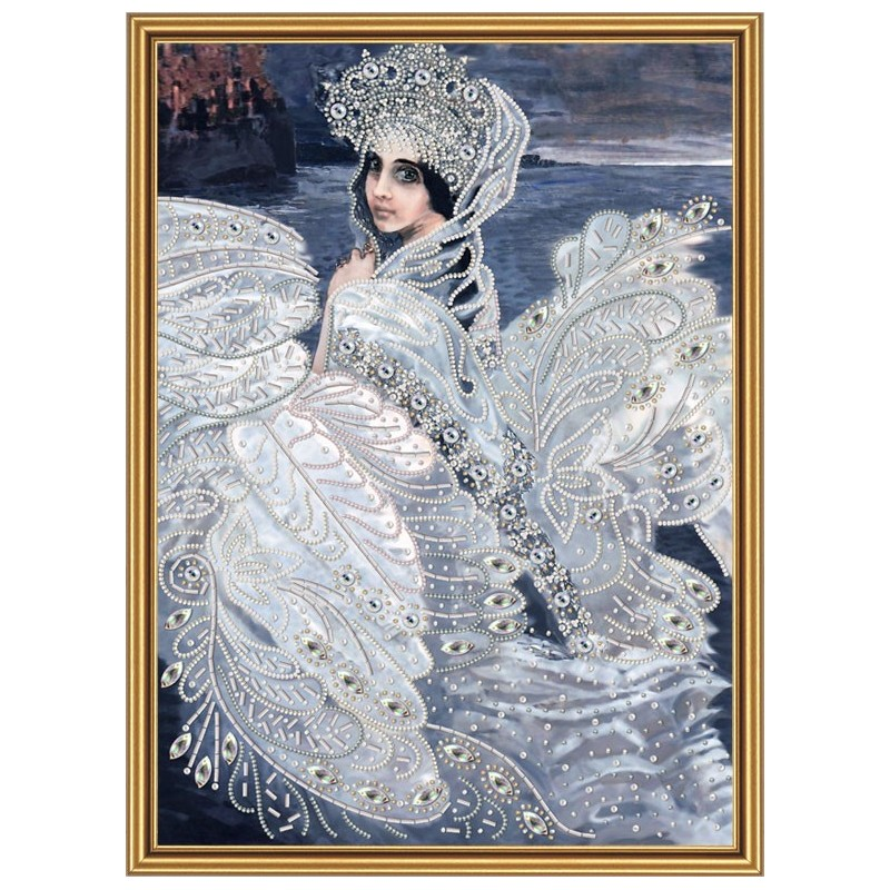 """Beads embroidery kit """"The Princess Swan"""""""