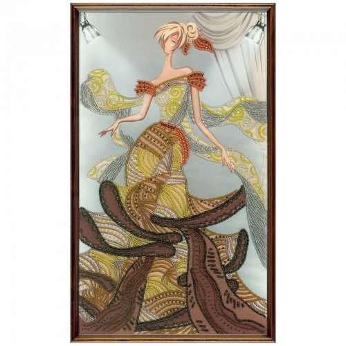 "Beads embroidery kit ""Podium. Fashion"""