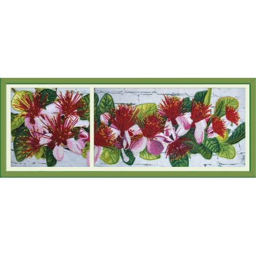 """Beads embroidery kit """"Feijoa branch"""""""