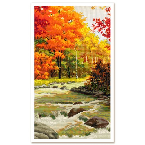 """Threads and beads embroidery kit """"Autumn melody"""""""