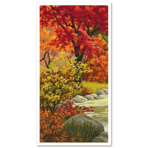 "Threads and beads embroidery kit ""Bright autumn"""
