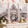 "Cross stitch kit with canvas with printed background ""Paris - the city of love. Adulthood"""