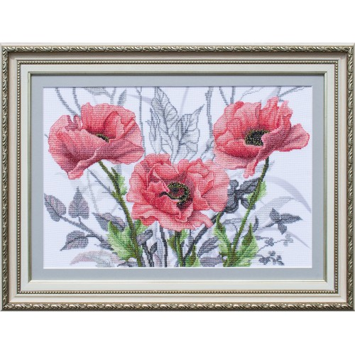 """Threads and beads embroidery kit """"Rosy suite"""""""