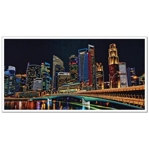 "Beads embroidery kit ""Night city"""