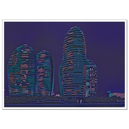 "Beads embroidery kit ""Skyscrapers"""