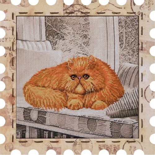 "Cross stitch kit with canvas and frame ""Tsar"""