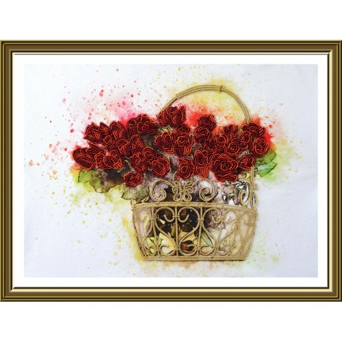 "Beads embroidery kit ""Flowers of love"""