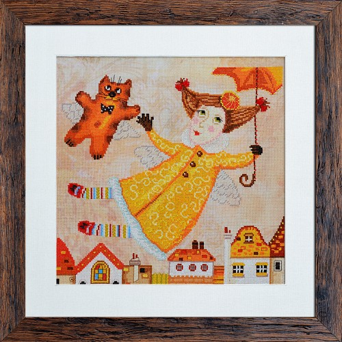 "Threads and beads embroidery kit ""Fairy with umbrella"""