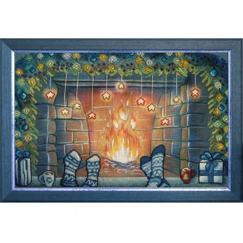 """Threads and beads embroidery kit """"Christmas together"""""""