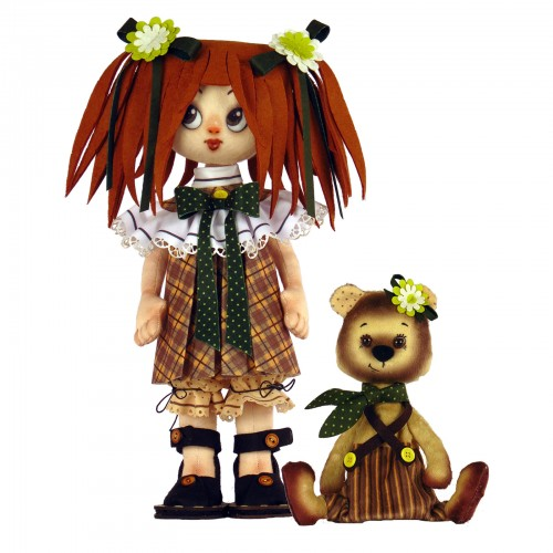 """Dolls sewing kit """"Girl with a bear"""""""