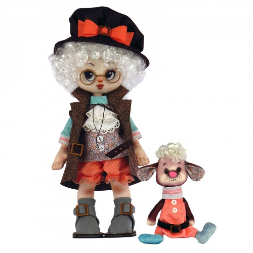 """Dolls sewing kit """"Boy with a lamb"""""""