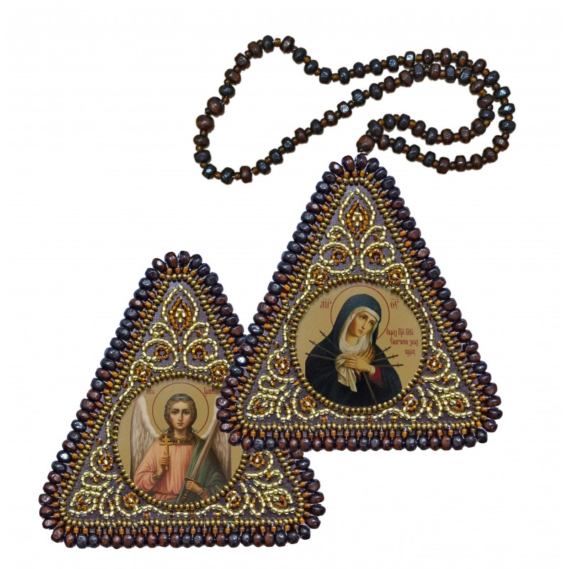 Icon of the Most Holy Mother of God, the Softener of Evil Hearts & Holy Guardian Angel