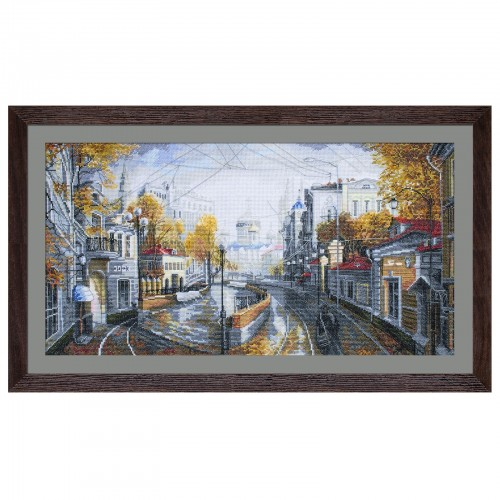 "Cross stitch kit with white canvas ""Urban capriccio"""