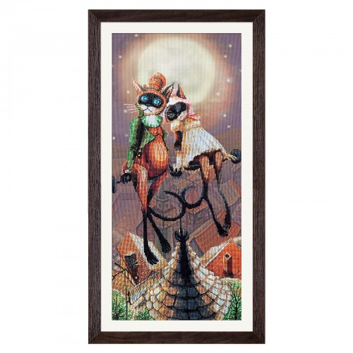 """Cross stitch kit with canvas with printed background """"I'll give you..."""""""