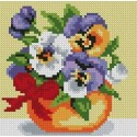 """Set for creating a picture using the technique of diamond mosaic """"Potted violets"""""""