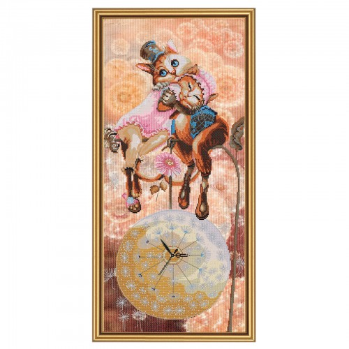 """Cross stitch kit with canvas with printed background """"Sweet dreams"""""""