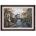 "Cross stitch kit with white canvas ""Old bridge"""