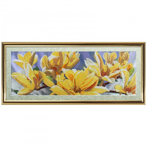 "Beads embroidery kit ""Golden magnolia"""