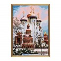 """Cross stitch kit with white canvas """"Assumption Cathedral"""""""