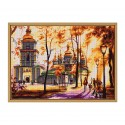 """Cross stitch kit with white canvas """"Sunny day"""""""