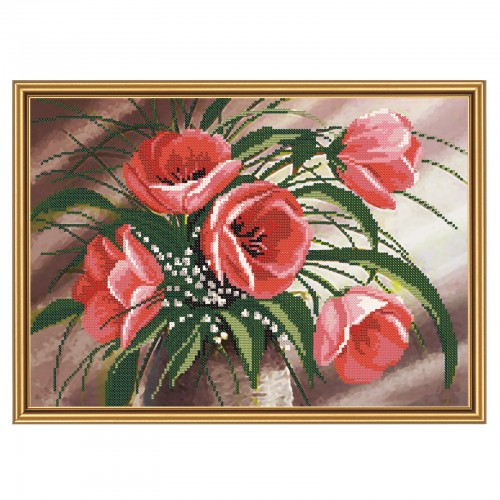 "Beads embroidery kit ""Spring bouquet"""