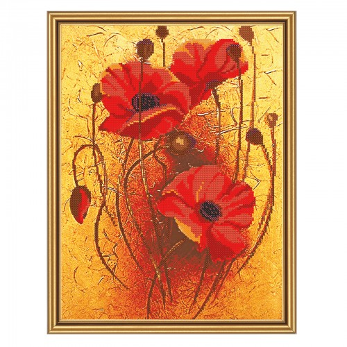 "Beads embroidery kit ""Blossoming poppies"""